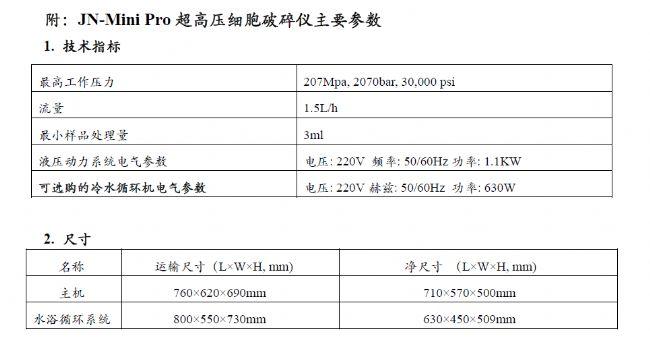 JN-MINI Pro Cell disrupter Homogenizer