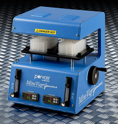 Porvair推出独特MiniVap Gemini双头氮吹仪 双倍蒸发